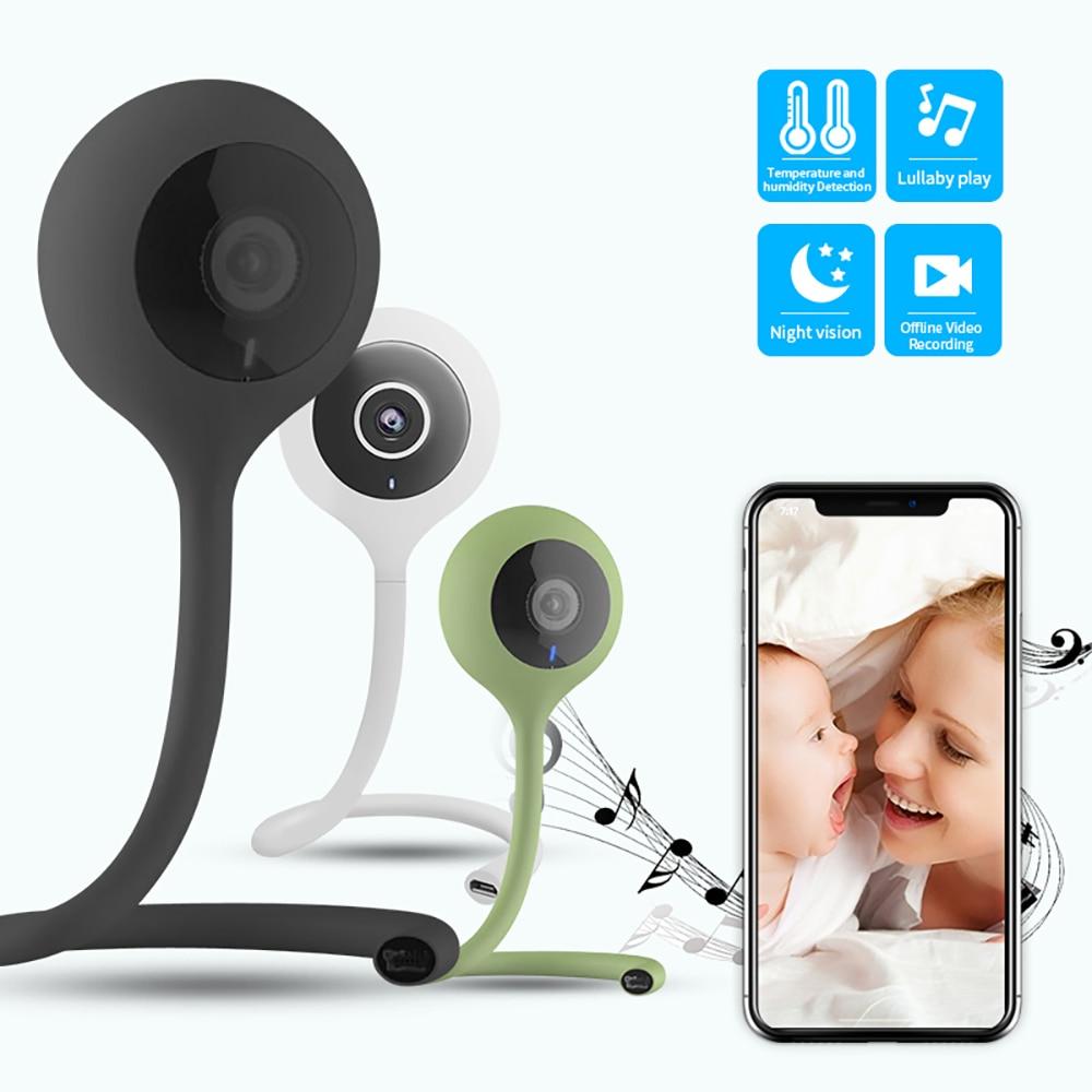 SDETER Wireless Nanny Baby Monitor Wifi Della Macchina Fotografica 2 Way Audio Visione notturna Telecamera di Sicurezza Temperatura Monitor Ninna Nanna Baby Sitter