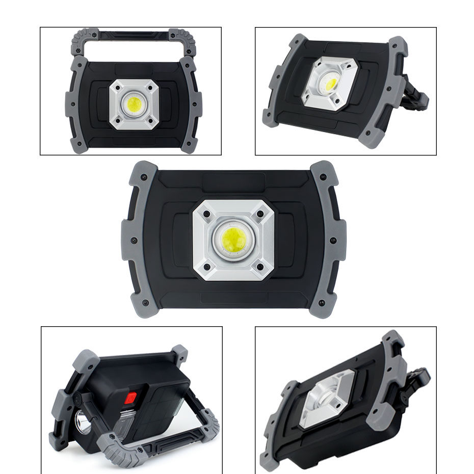 20W Waterproof COB Working Light Led Hand Lamp 18650 Rechargeable Battery Flood Light Led Camping Lantern 3 Modes USB Charging20W Waterproof COB Working Light Led Hand Lamp 18650 Rechargeable Battery Flood Light Led Camping Lantern 3 Modes USB Charging