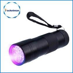 Мини 9 светодио дный УФ фонарик Ультрафиолетовый светодио дный ультрафиолетовый фонарик маркер с невидимыми чернилами фонарь детектор