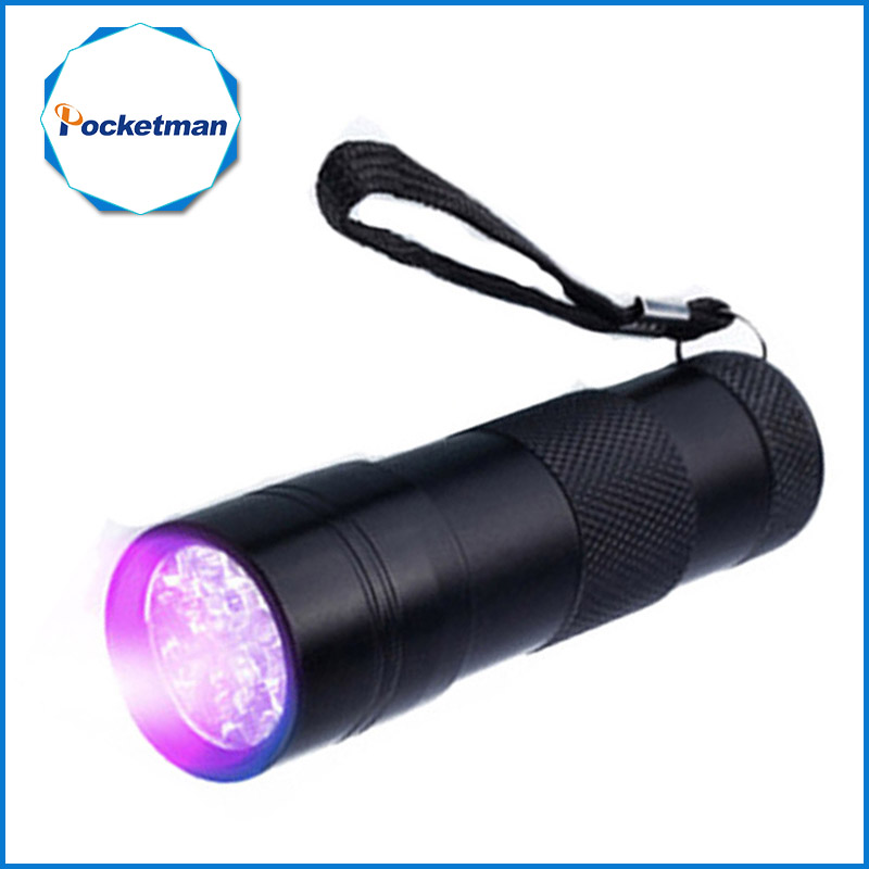 Mini 9LED UV linterna ultravioleta led Invisible tinta marcador detección antorcha luz 3AAA lámpara UV