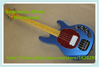 Hot Selling Metallic Blue Finish 4 String Music Man Electric Bass Guitar As Pictures For Sale