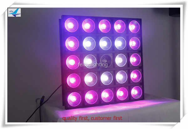 free shipping 2pcs/lot LED Matrix Power COB 25X30W RGB Blinder Light Quad 5x5 Bar DJ Color Change Magic Effect Stage Wash Lights