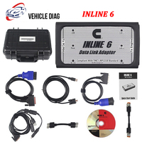 INLINE 6 Data Link Adapter Heavy Duty Diagnostic Tool Scanner Full Set with 8 cable Truck Diagnostic interface inline 6