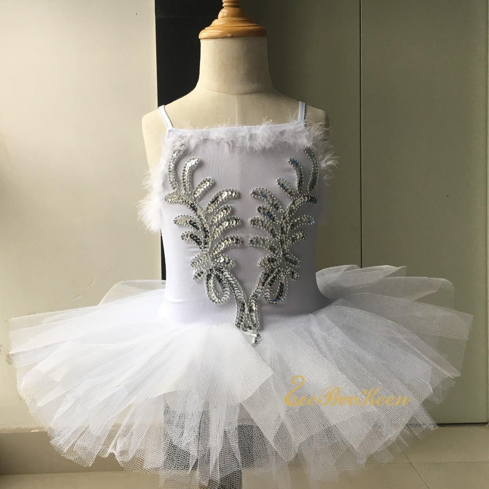 Girls Professional Ballet Tutu Dress For Girl White Swan Lake Costume Ballerina Dress For Kids Ballet Dress Dancewear Children