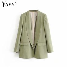 Vintage cardigan green blazers women blazers and jackets muj