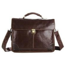 Vintage Genuine Leather Men Briefcase Fit For 14 Inch Laptop Men's Business Bag Cross-Body Shoulder Handbag PR577091