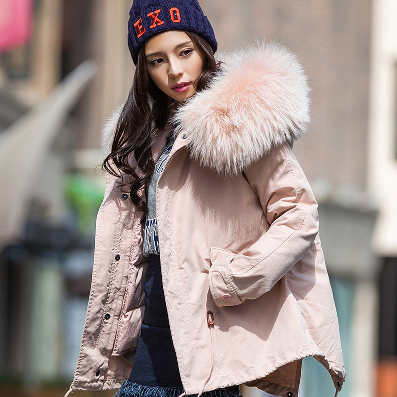 2017 new winter jacket women hooded zipper solid cotton thick fur hooded coat parkas outwear long detachable lining 2017 new women winter coat long quilted jacket thick warm solid color cotton parkas female slim hooded zipper outwear okb88