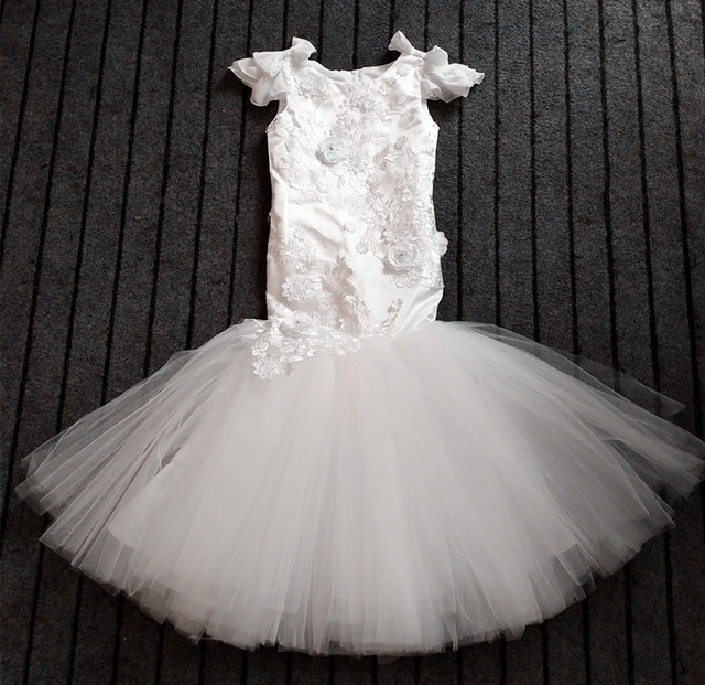 Custom Flower Girl Dresses Ivory Party Wedding Pageant Ball Gown ...