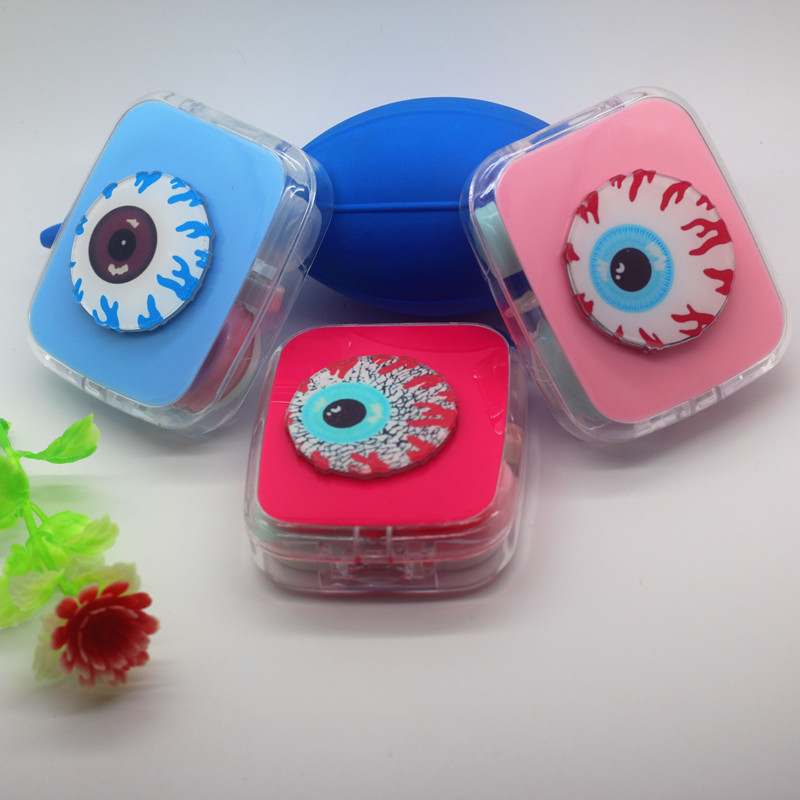 LIUSVENTINA DIY acrylic  cute EYES pattern contact lens case for eyes contact lenses box for glasses