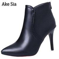 Ake Sia Trendy Autumn Winter Fashion Womens Lady Luxury Super High Heels Stilettos Ankle Martin Boots