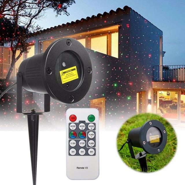 EUA/UE Ficha Estrelas Stage Luz Noturna Céu Paisagem Discoteca Show de Laser Projetor Com Controle Remoto Ao Ar Livre Festa de Natal