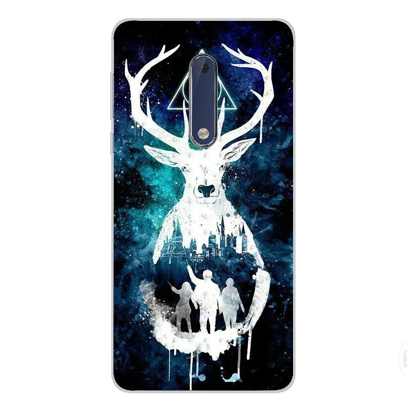 ciciber For Nokia 8 7 7.1 6 6.1 5 5.1 3 3.1 2 2.1 1 Plus Soft silicone phone Harry Potter Glasses case TPU For Nokia X7 X6 X5 X3