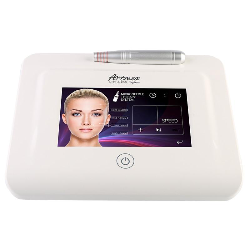 New Artmex V11 Pro Digital Eyebrow Lip Tattoo Machine Permanent Makeup Micro needle Therapy Device MTS