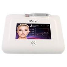 Máquina de tatuagem artmex v11 pro, dispositivo digital para tratamento de sobrancelhas e lábios com micro agulha permanente