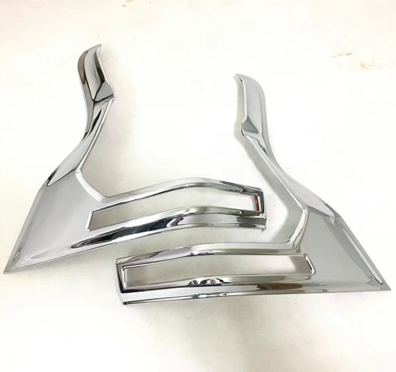 MONTFORD Car Styling ABS Chrome Rear Tail Light Cover Taillight Cover Trims 2Pcs Fit For Toyota Cruiser Prado FJ150 FJ 150 2018 2pcs chrome abs rear back window wiper cover trims for bmw x3 f25 2011 2015 car styling accessories