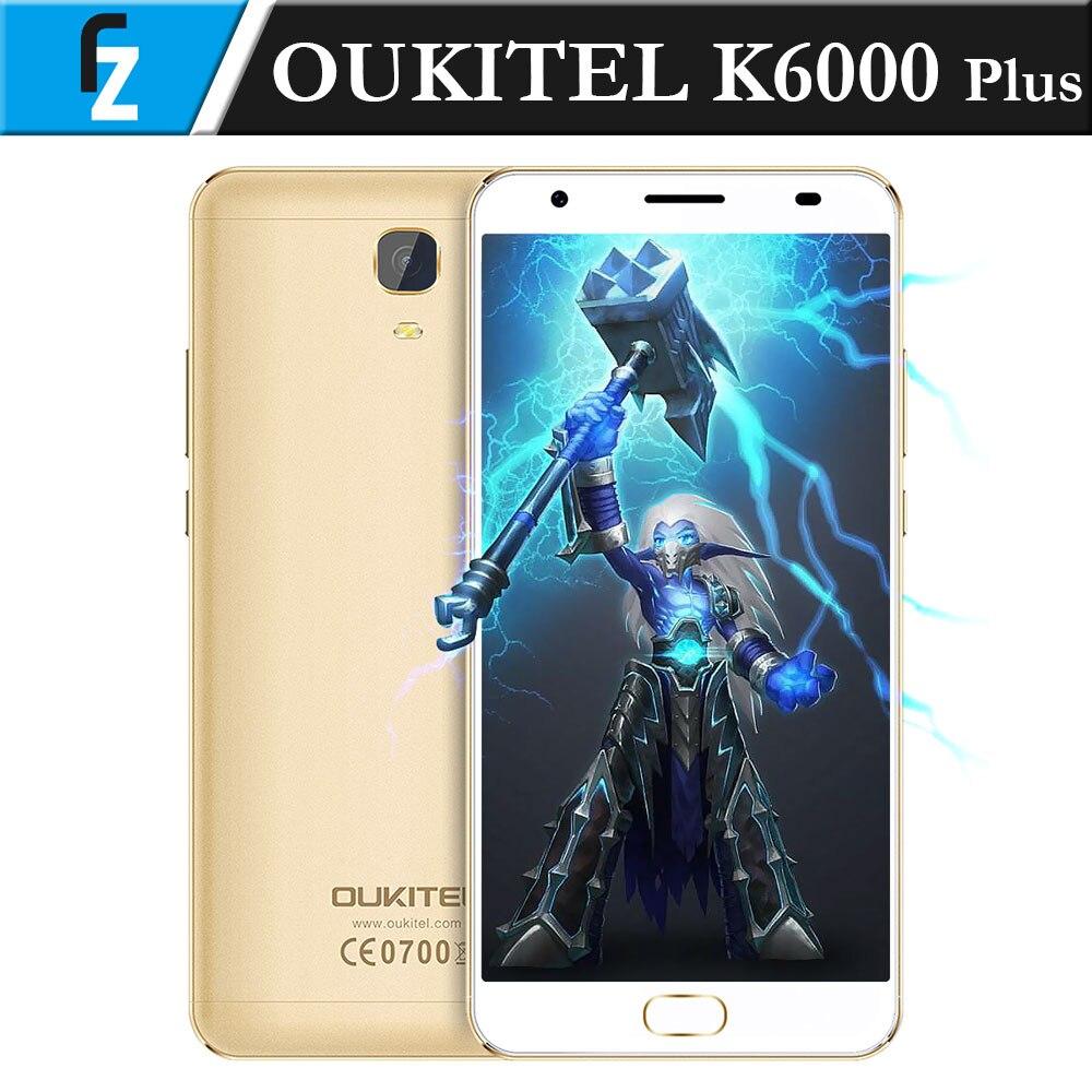 """Цена за Оригинал k6000 oukitel плюс 5.5 """"fhd android 7.0 16mp камера mtk6750t octa core 4 ГБ ram 64 ГБ rom передняя touch id 12 v/2а qc 4 г телефон"""