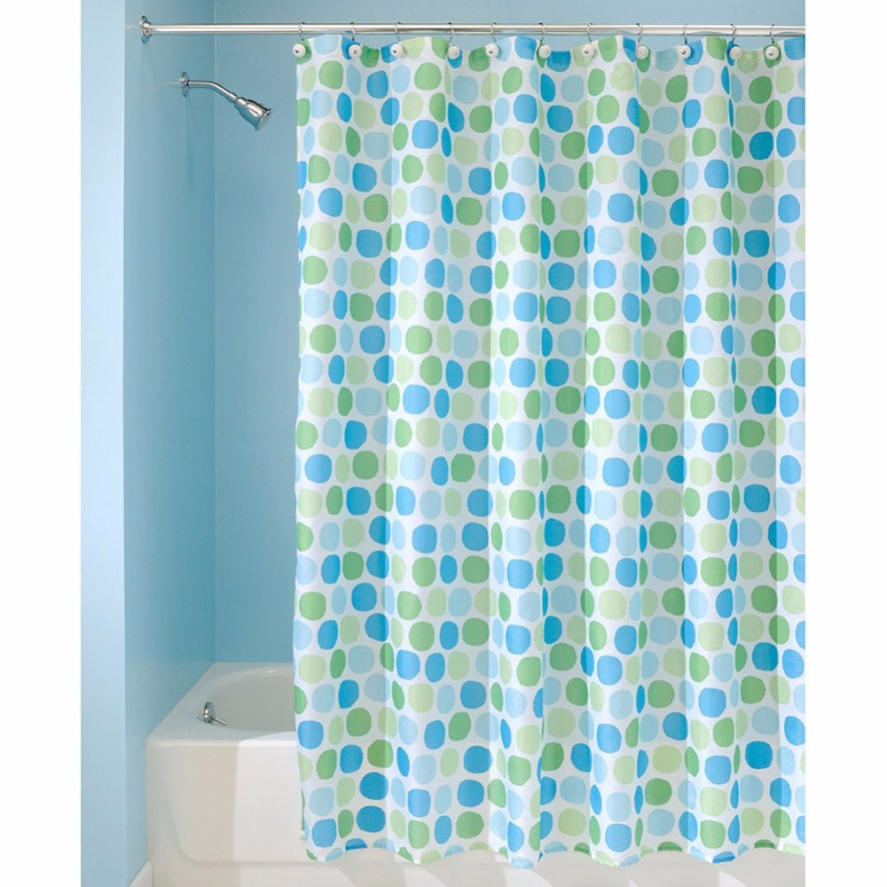 Blue bathroom curtains - Modern Style Shower Curtain Floral Bathroom Curtains Waterproof Washable Polyester Fabrics Shower Blinds With Pothooks