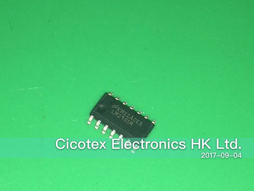 20pcs/lot LM2901MX/NOPB SOP14 IC COMPARATOR QUAD VOLT 14-SOI