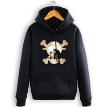 One Piece Blue Black Hoodie Streatwear