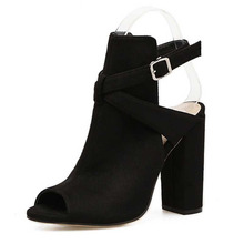 SIZE 35-42 Flock Women Sandals Gladiator High Heels Strap Pumps Buckle Strap Shoes Fashion Summer Ladies Shoes Women Shoes цены онлайн