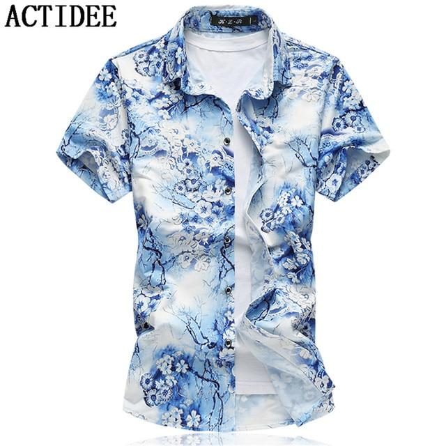 a8add15b 19 Colors New Fashion Short Sleeve Silk Hawaiian Shirt Men Summer Casual  Floral Shirts Men Plus Size 3XL 4XL 5XL 6XL 7XL 5z