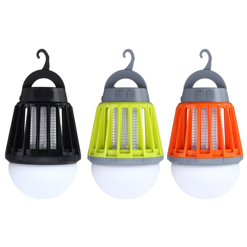 5V 5W USB Mosquito LED Killer Bulb Waterproof Climbers Anti-Mosquito Light Mosquito Killer Lamps ABS Garden Outdoor USB Charging