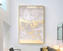 Large size Modern canvas wall art Abstract golden Painting for home decor pictures hand painted painting