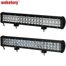 Weketory 22 inç 240 W 4D 5D LED İş Işık Bar İçİn Traktör tekne OffRoad 4WD 4×4 Kamyon SUV ATV Nokta Taşkın Combo Işın 12 V 24 v