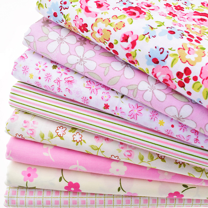 8pcs lot print twill cotton fabric for sewing baby bedding for Fabric for kids clothes