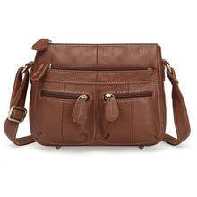 100% Top Cowhide Genuine Leather Women Messenger Bags Female Small Shoulder Bag Vintage crossbody for bolsa feminina 2019 MM2317