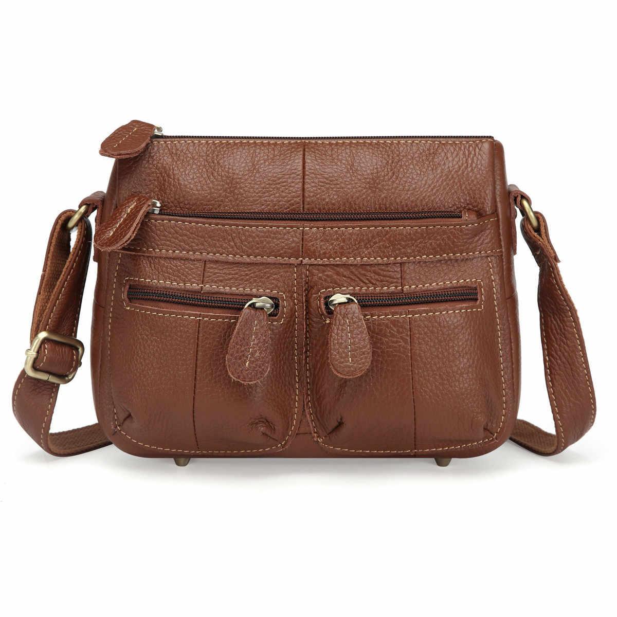 8a3658abcd50 100% Топ яловая натуральная кожа женские сумки-мессенджеры женские  маленькие сумки на плечо винтажные