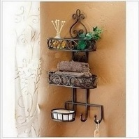 Household goods receive sanitary toilet wall hanging shelf, wrought iron bathroom, bathroom shelf