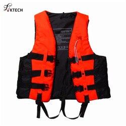 Полиэстеровый жилет для взрослых, куртка для плавания на лодках, спасательный жилет со свистком, S-XXXL размеры, водная Спортивная безопасная ...