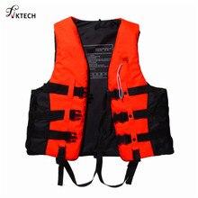 Полиэстер взрослый спасательный жилет куртка плавание катание на лодках лыжный дрейфующий спасательный жилет со свистком S-XXXL размеры водные виды спорта мужская куртка