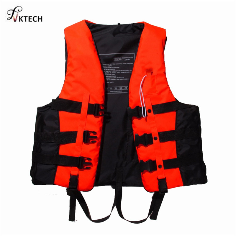 Polyester Adult Life Vest Universal Swimming Boating Ski Drifting Life Jacket With Whist ...