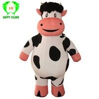 Новый стиль гигантский корова надувной костюм Хэллоуин Детский костюм для вечеринок рекламы 1,9 м высокие индивидуальные Костюмы для коспле