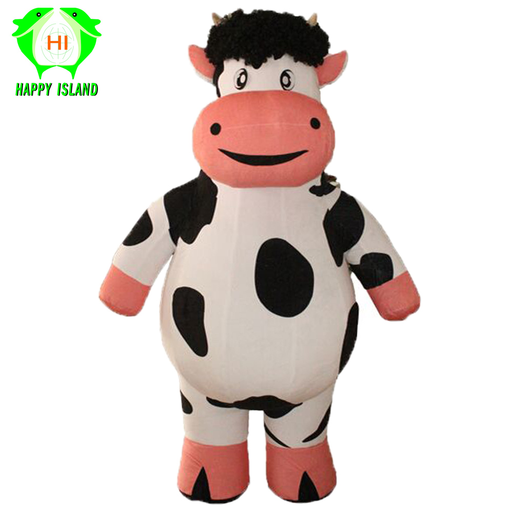 New Style Giant Cow Inflatable Costume Halloween Party Costume Advertising 1.9M Tall Customized Cosplay Costumes for Adult