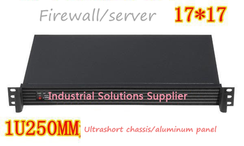 New 1U Ultra-Short Computer Case Firewall Computer Case Itx Computer Case Industrial Computer Case Aluminum Panel new ultra short 3u computer case 38cm 8 hard drive pc large panel big power supply 3u server industrial computer case