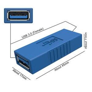 Image 3 - 90 degrés USB 3.0 A mâle à femelle Vertical gauche droite haut bas coudé adaptateur USB 3.0 M/F connecteur pour ordinateur portable ordinateur bleu