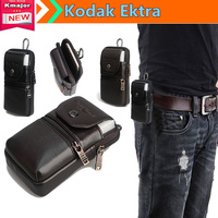 Luxury Genuine Leather Carry Belt Clip Pouch Waist Purse Case Cover Bag For Kodak Ektra 5