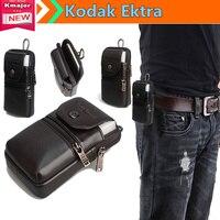 Luxury Genuine Leather Carry Belt Clip Pouch Waist Purse Case Cover Bag For Kodak Ektra 5
