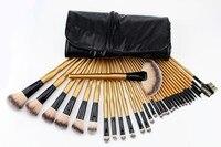 New Professional 32 Pcs Makeup Brushes Cosmetic Kit Foundation Powder Make Up Brush Golden Gourd Handle