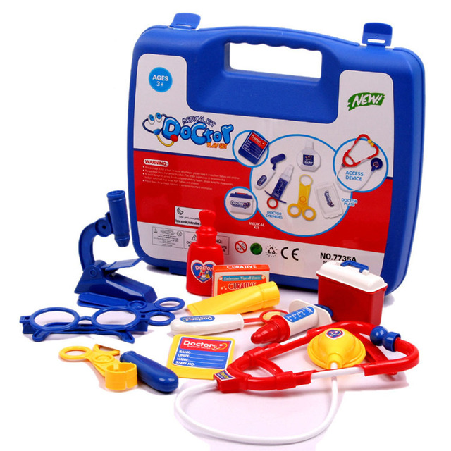Boys Girls Doctor Toys Child Pretend Play Toys Kids Medical Kits Doctor's Bag Children Learning Education Toy Set