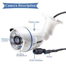 Smar1.0MP/2MP Bullet Camera HD 720P 1080P Outdoor Waterproof 48V POE IP Camera Night Vision CCTV Camera Security System ONVIF