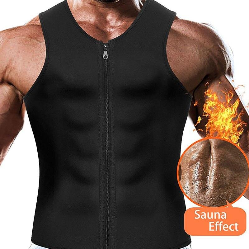 Men Sauna Running Vest Tank Tops Shapewear (2)