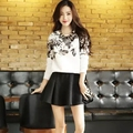 Hitz Korean women was thin printing casual piece fitted skirt