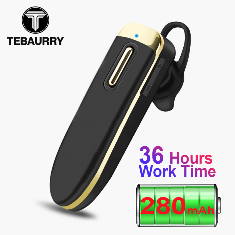 TEBAURRY YA-06 Long Standby Bluetooth Earphone 280mAh Battery Wireless Headphones With Mic 32 Hours Work Time Headset For Driver