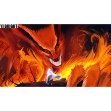 "YI BRIGHT DIY 3D Diamond Embroidery,Cross Stitch,""Cartoon-Naruto Beast Kurama"",Full Square&Round Diamond Painting,Home Decor,GT(China)"