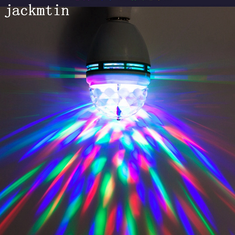 E27 Colorful LED Night light RGB Auto Rotating Stage light Christmas Laser Light Projector LED Bulb