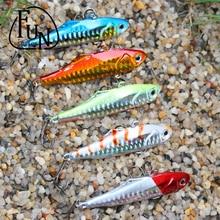 FunSeries Spinnerbait Metal Artificial Fishing Lure Vib Bait 6# Hooks 24g/7.5cm Minnow Bait Hard Bait Fishing Tackle